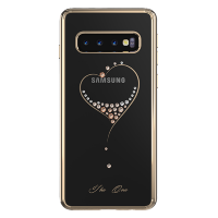 Чехол с Swarovski Kingxbar Wish для Galaxy S10 Plus Gold