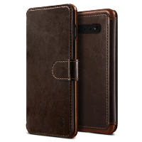 Чехол VRS Design Layered Dandy для Galaxy S10 PLUS Dark Brown